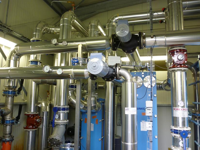 Echangeurs de chaleur Energécie dans usine Galliance, la vraie-Croix